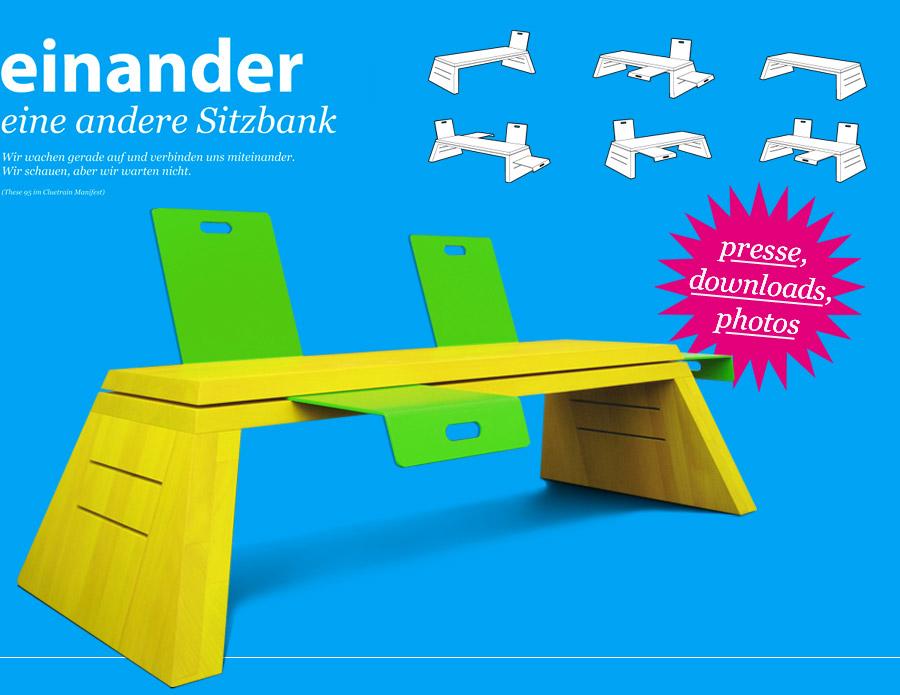 einander - eine andere Sitzbank - designed by snoopmedia